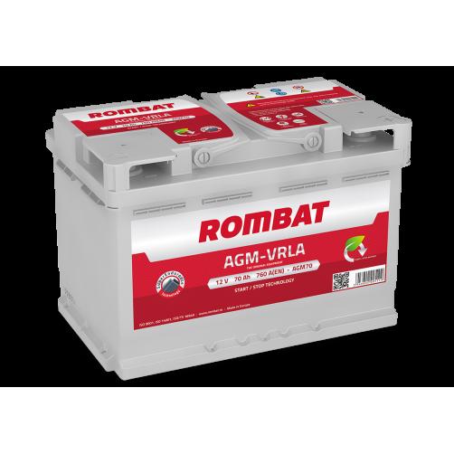 Baterie Auto Rombat AGM 70 Ah