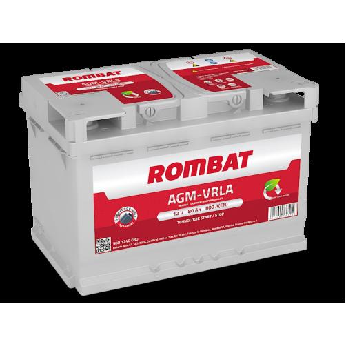 Baterie Auto Rombat AGM 80 Ah
