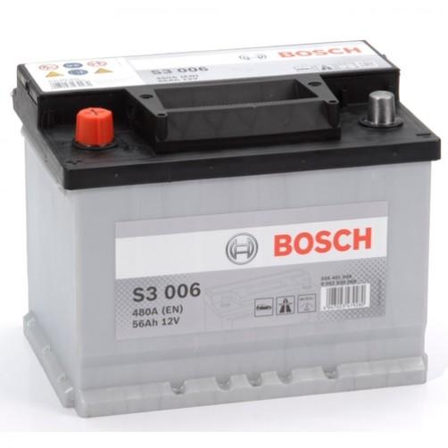 Baterie Auto Bosch S3 56 Ah cu borne inverse (0092S30060)