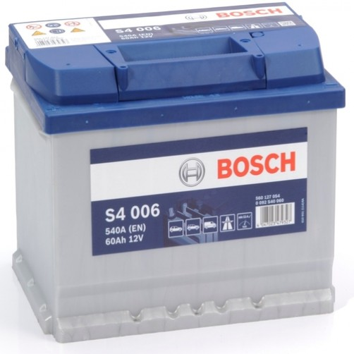 Baterie Auto Bosch S4 60 Ah cu borne inverse (0092S40060)