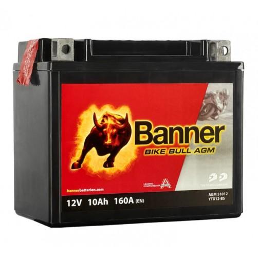 Baterie Moto Banner Bike Bull AGM 10 Ah (YTX12-BS)