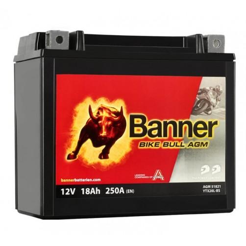 Baterie Moto Banner Bike Bull AGM 18 Ah (YTX20L-BS)