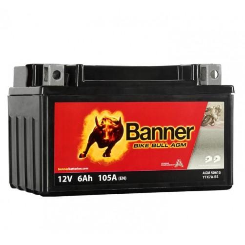 Baterie Moto Banner Bike Bull AGM 6 Ah (YTX7A-BS)