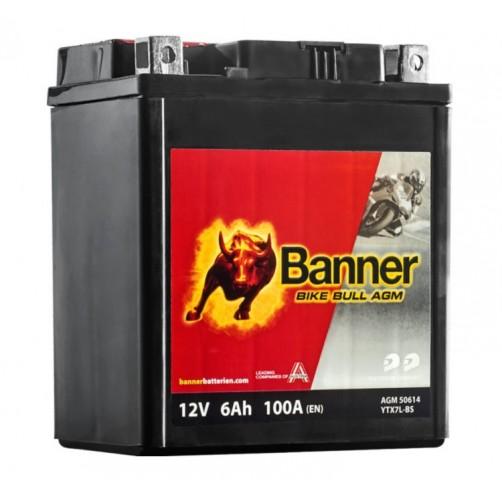 Baterie Moto Banner Bike Bull AGM 6 Ah (YTX7L-BS)