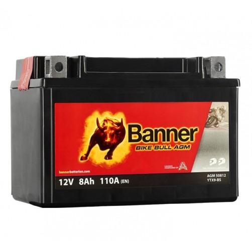 Baterie Moto Banner Bike Bull AGM 8 Ah (YTX9-BS)