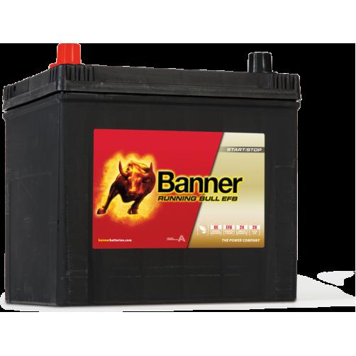 Baterie Auto Banner Running Bull EFB ASIA 65 Ah cu borne inverse (56516)