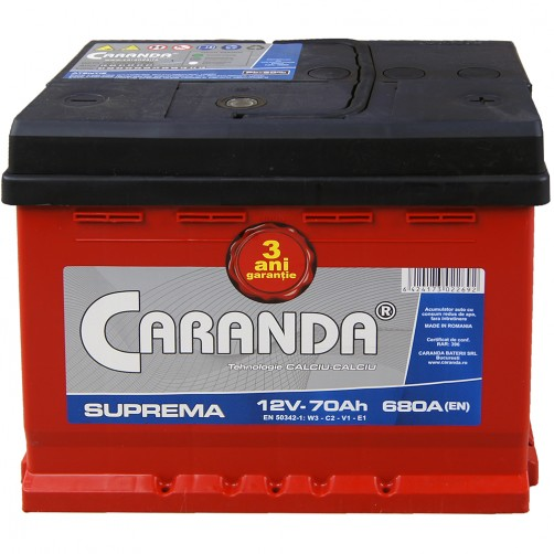 Baterie Auto Caranda Suprema 70 Ah