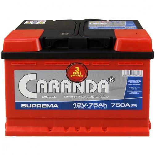 Baterie Auto Caranda Suprema 75 Ah