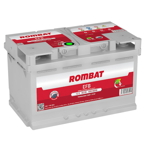 Baterie Auto Rombat EFB 65 Ah