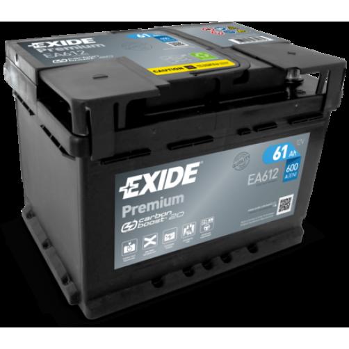Baterie Auto Exide Premium 61 Ah (EA612)