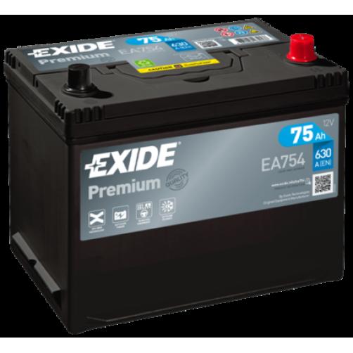 Baterie Auto Exide Premium 75 Ah (EA754)