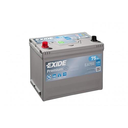 Baterie Auto Exide Premium 75 Ah cu borne inverse