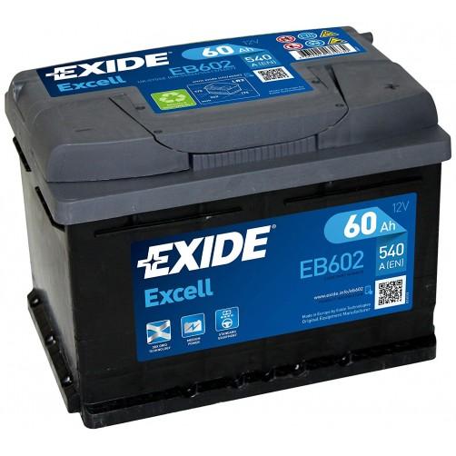 Baterie Auto Exide Excell 60 Ah (EB602)
