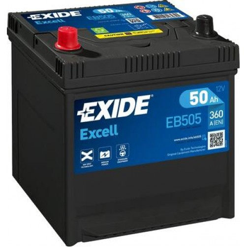 Baterie Auto Exide Excell 50 Ah (EB505)