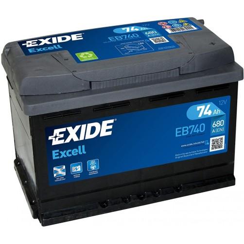 Baterie Auto Exide Excell 74 Ah