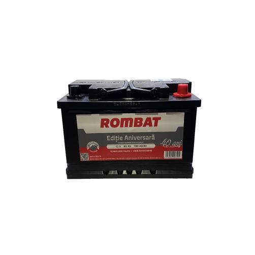 Baterie Auto Rombat Ediție Aniversară 80 Ah