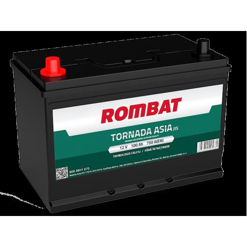 Baterie Auto Rombat Tornada ASIA 100 Ah cu borne inverse