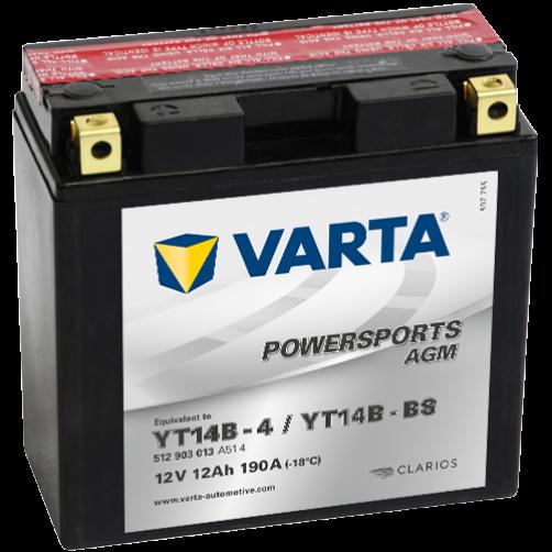 Baterie Moto Varta AGM 12 Ah (YT14B-BS)