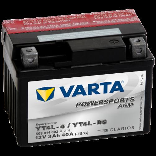 Baterie Moto Varta AGM 3 Ah (YT4L-BS)