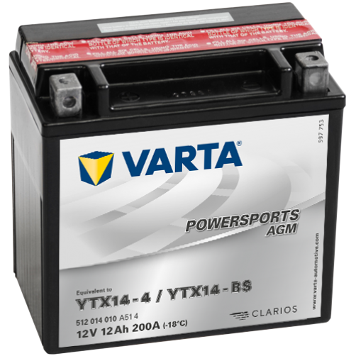 Baterie Moto Varta AGM 12 Ah (YTX14-BS)