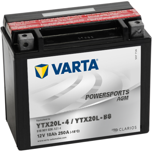 Baterie Moto Varta AGM 18 Ah (YTX20L-BS)