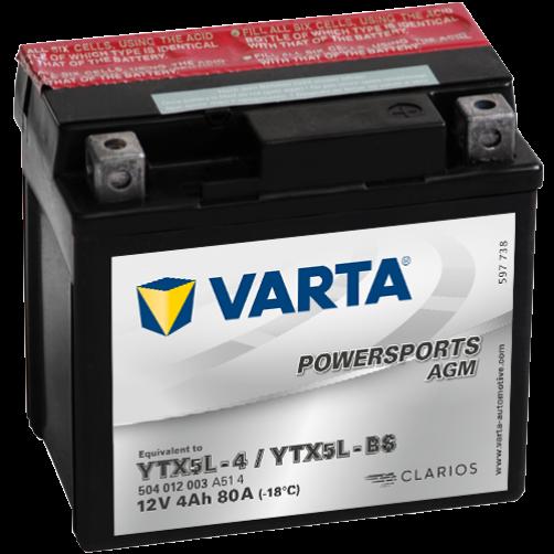 Baterie Moto Varta AGM 4 Ah (YTX5L-BS)