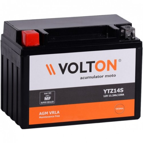 Baterie Moto Volton AGM VRLA 11,2 Ah cu borne inverse