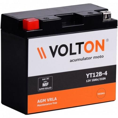 Baterie Moto Volton AGM VRLA 10 Ah cu borne inverse