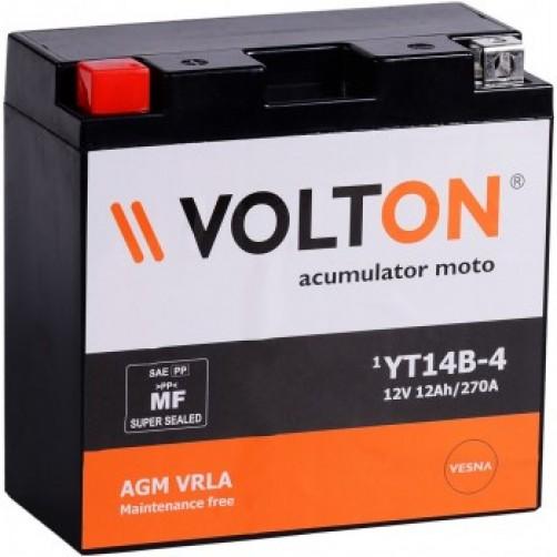 Baterie Moto Volton AGM VRLA 12 Ah cu borne inverse