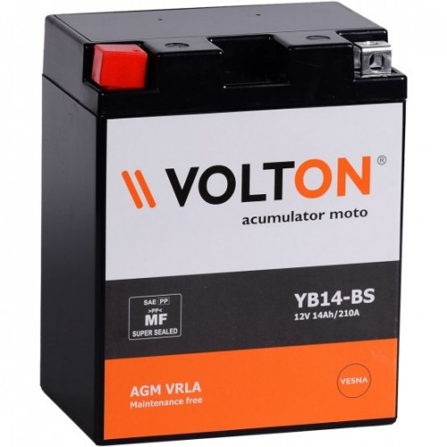Baterie Moto Volton AGM VRLA 14 Ah cu borne inverse