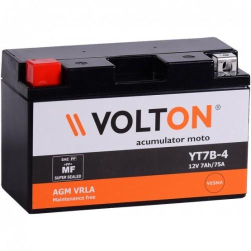Baterie Moto Volton AGM VRLA 7 Ah cu borne inverse