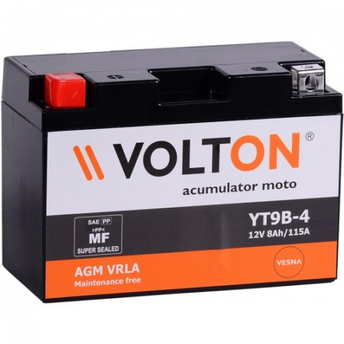 Baterie Moto Volton AGM VRLA 8 Ah cu borne inverse
