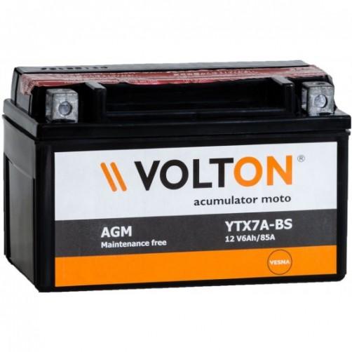 Baterie Moto Volton AGM 6 Ah (YTX7A-BS)