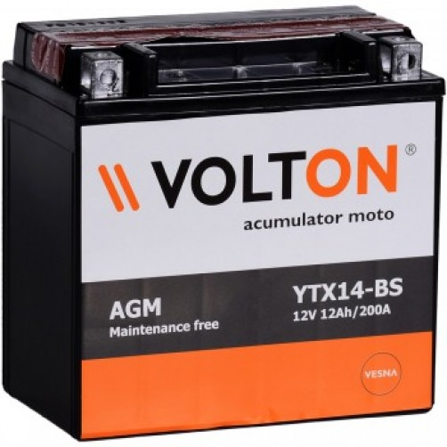 Baterie Moto Volton AGM 12 Ah (YTX14-BS)