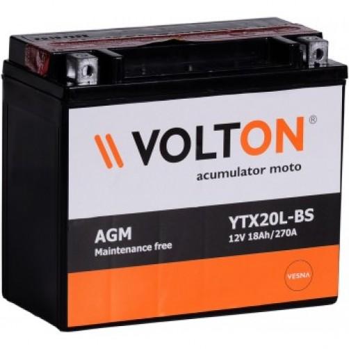 Baterie Moto Volton AGM 18 Ah (YTX20L-BS)