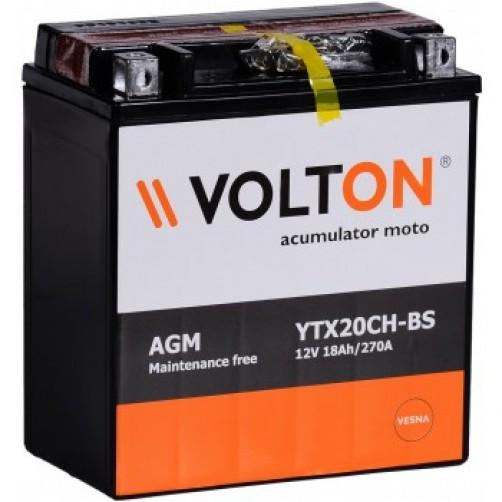 Baterie Moto Volton AGM 18 Ah (YTX20CH-BS)