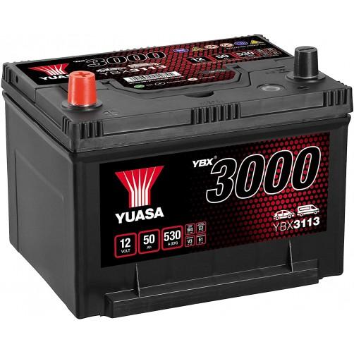 Baterie Auto Yuasa 50 Ah cu borne inverse (YBX3113)