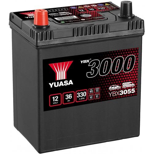 Baterie Auto Yuasa 36 Ah cu borne inverse (YBX3055)