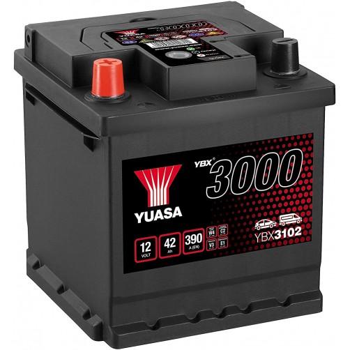 Baterie Auto Yuasa 42 Ah cu borne inverse (YBX3102)