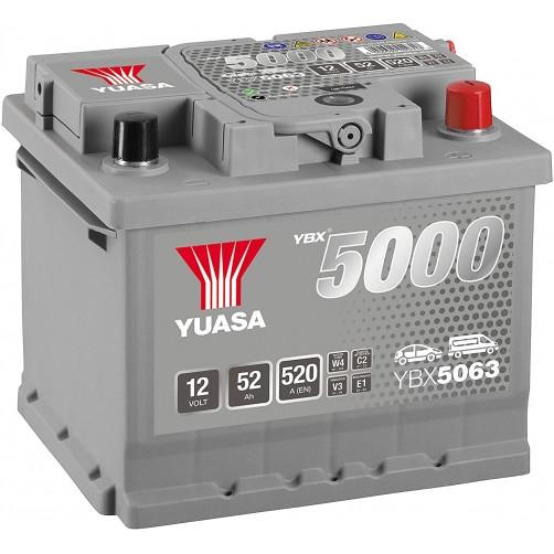 Baterie Auto Yuasa 52 Ah (YBX5063)