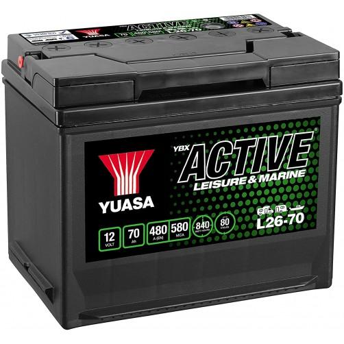 Baterie Hobby Yuasa YBX Active Leisure & Marine 70 Ah (L26-70)