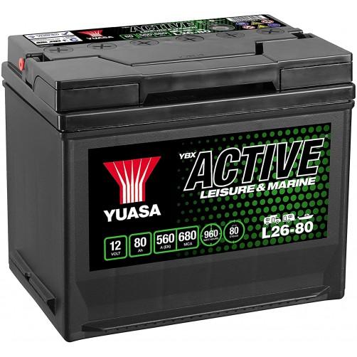 Baterie Hobby Yuasa YBX Active Leisure & Marine 80 Ah (L26-80)