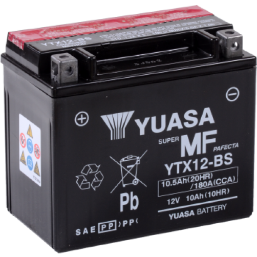 Baterie Moto Yuasa AGM 10 Ah (YTX12-BS)