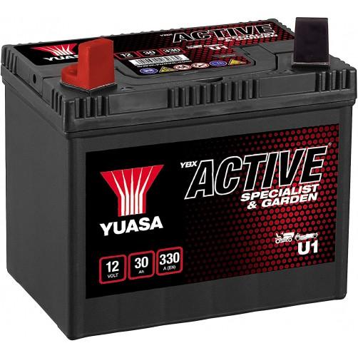 Baterie Motocultor Yuasa YBX Active Specialist & Garden 30 Ah cu borne inverse (U1)